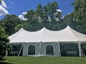 wedding tent at the georgi